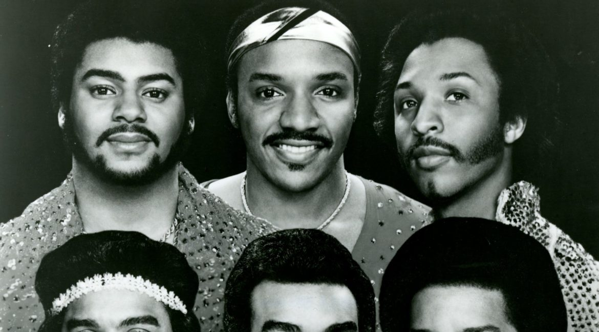 The Isley Brothers: Top Row: Mrvin Isley, Ernie Isley, Chris Jasper. Bottom Row: Rudolph Isley, Ronnie Isley, Kelly Isley