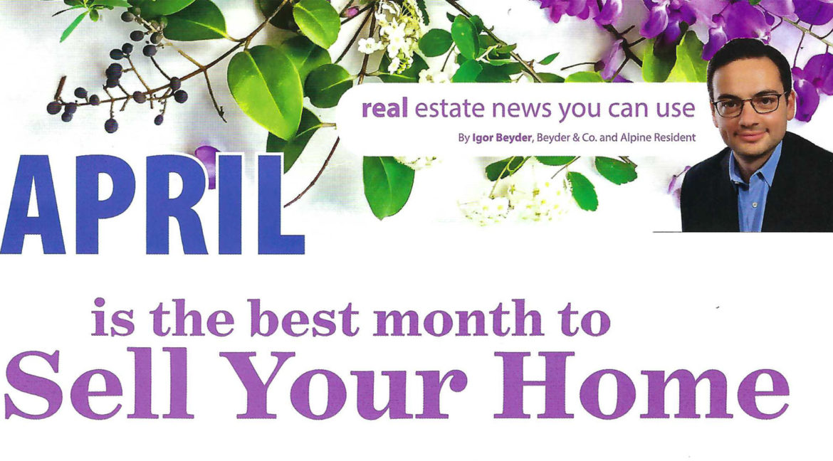 April is the best month to Sell Your Home